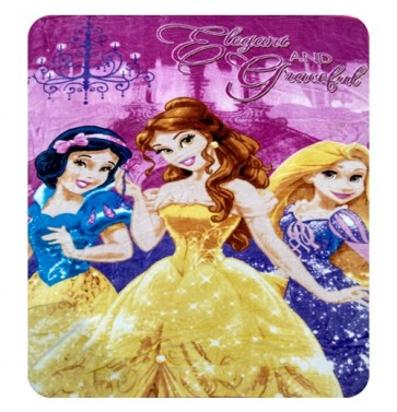 3 Barbies Disney Kids Single Bed Blanket Quilt Throw by signature