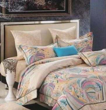 Abstract designer all over print Double Bedsheet