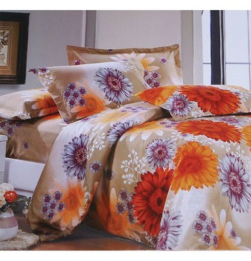 Daisy Floral Print Bed Sheets for Double Bed