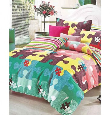 Puzzel Design Multi Print Bed Sheets