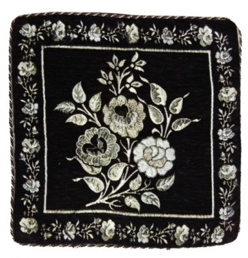 black flowers cushion covers