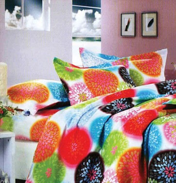 Circle pattern Cotton Printed Double Bedsheet