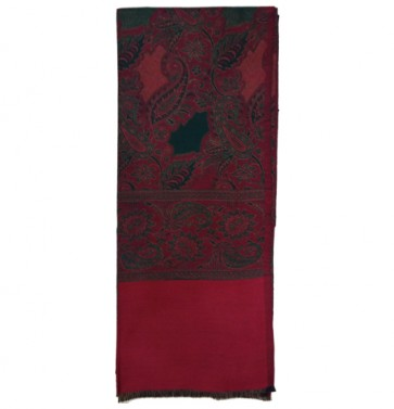 designer colorful pure kashmiri women's shawl - Red
