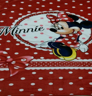Disney minnie mouse signature Single Bed Blanket Quilt Throw