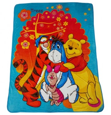 Disney Winnie the Pooh and Friends Single Bed Blanket Quilt