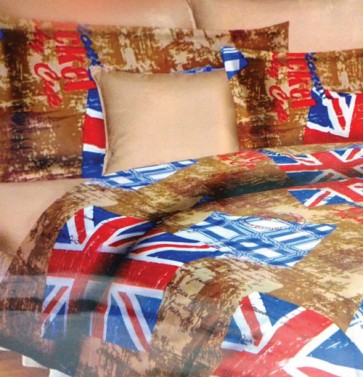 UK Flag Print Bedsheets for (Double Bed)