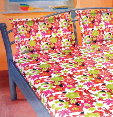 Floral design Double Bed BedSheets