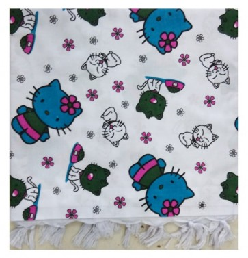 hello kitty aqua pink cotton ac shawl