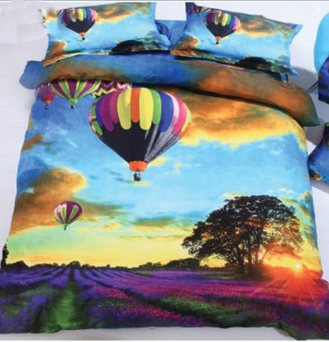 Hot Air Balloon 3d Bed Sheets for Double Bed