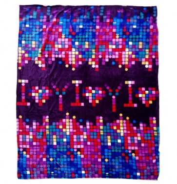 I Love You Printed Single Bed Winter Blanket