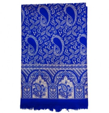 India Woolen Shawls For Women - Blue