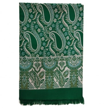 India Woolen Shawls For Women - Green