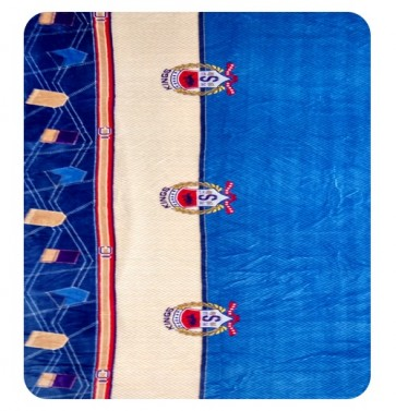 King Badge Blue DoubleBed Blanket Quilt Throw
