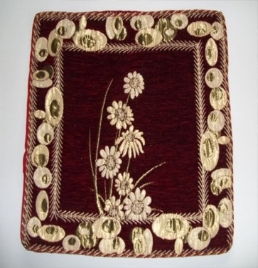 Maroon Cushion Cover Floral Design