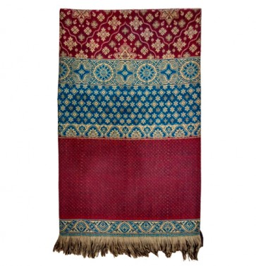 Maroon Embroidered Kashmiri Shawl