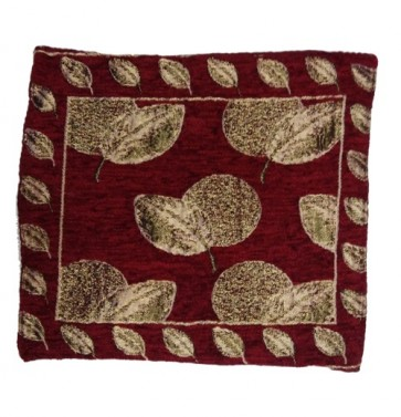 maroon golden leaves cushion cover 12x12 Inches