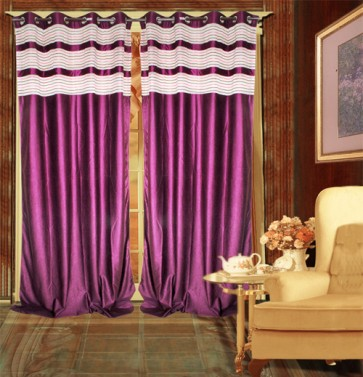 Purple Contemporary Curtain