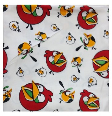 angry bird print ac cotton shawl - Red