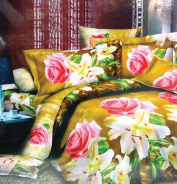 Rose Blossam Heena Color Double Bedsheet