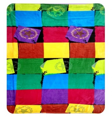Villa House Multi Color DoubleBed Quilt Throw