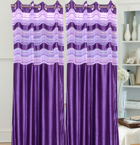 Violet Contemporary Curtain For Only Rs 799 00 In Curtains At