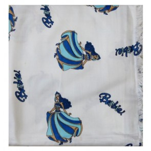 barbie ac cotton shawl - blue