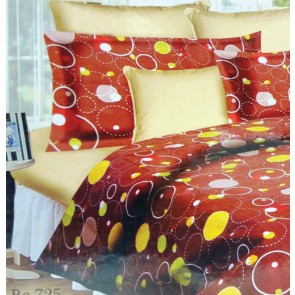 Circle Pattern Double Bed Sheet With 2 Pillow Covers