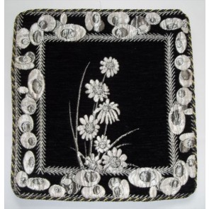 Black Cushion Cover Floral Design