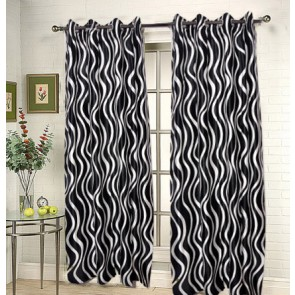 Black Waves Curtain