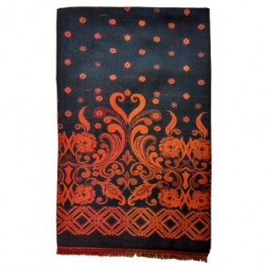 Black & orange Kashmiri pashmina Shawl