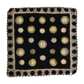 black polka dots cushion cover 12x12 Inches