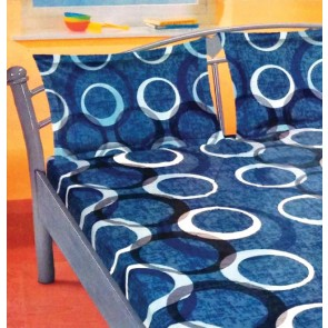 Blue Circular Pattern Double Bedsheet & 2 Pillow Covers