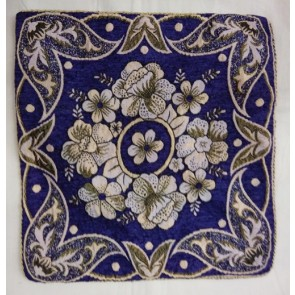 Blue Flower Designer Cushion Cover