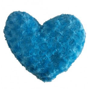 Blue Rose Pattern Heart Shape Cushion pillow