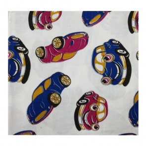cars cotton shawl blue and dark pink