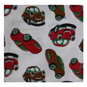 cars red and coffee cotton ac shawl