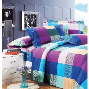 Chex Double Dyed Cotton Bed Sheets