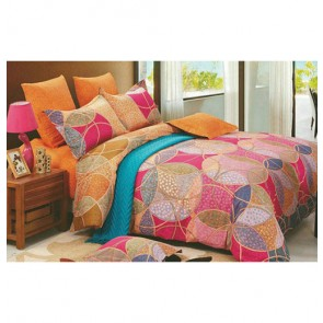 Circle Geomatry Pattern Designer Bed Sheets (Double Bedsheet)