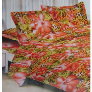 Floral Animal Print cotton Double Bed Bedsheets