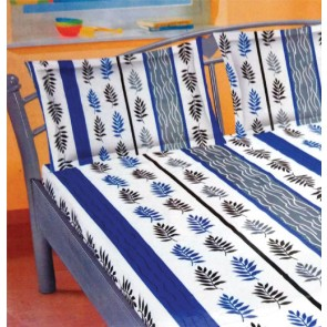 Blue Graey Cotton Double Bed Bedsheet  & 2 Pillow Covers