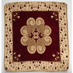 Maroon Embroidered Cushion Cover