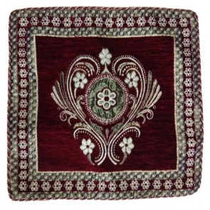 maroon classic cushion cover