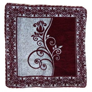 maroon silver cushion cover