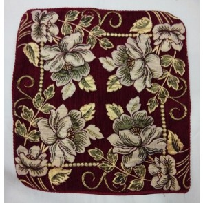 Marron Golden Designer Floral Cushion Covers