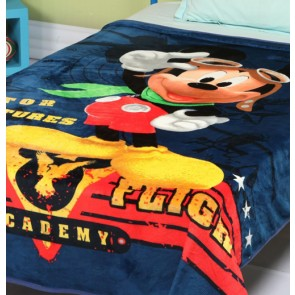 Disney mickey mouse signature Single Bed Blanket Quilt Throw