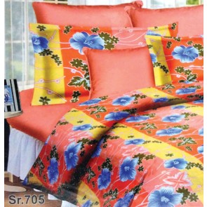 Sunrise Radium Floral design Bedsheet