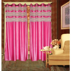 Pink Contemporary Curtain