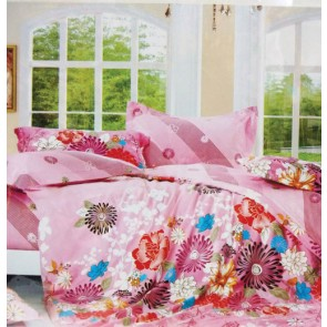 Pink Floral Prints Bed Sheets