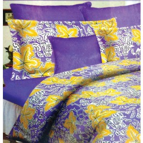 Purple Contemporary Cotton Double Bed Bedsheets