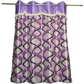 Purple Ribbon Curtain